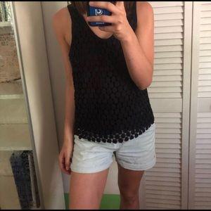 J. CREW dark navy sleeveless blouse